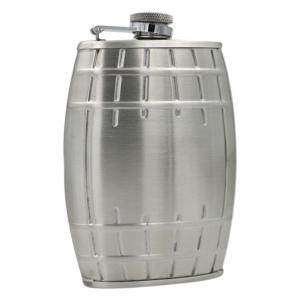 6 Ounce Stainless Steel Bucket Shape Wine Pot with Keychain -