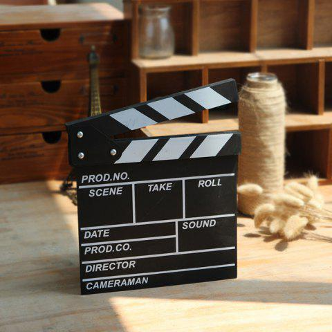 Online Director Clapper Board Shooting Props Wood Decoration
