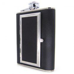 6 ounce Hip Flask Dual-use Portable Cigarette Case -