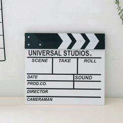 Director Clapper Board Shooting Props Wood Decoration -