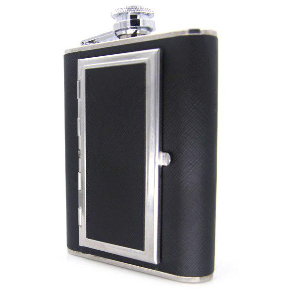 Fancy 6 ounce Hip Flask Dual-use Portable Cigarette Case