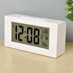 Large LCD Screen Digital Kickout Stand for Desk Display Temperature Date Snooze Alarm Clock -