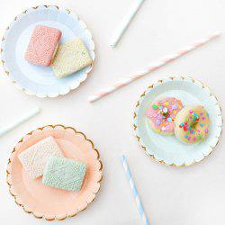 Stylish Solid Color Paper Round Plate 8pcs / Pack -
