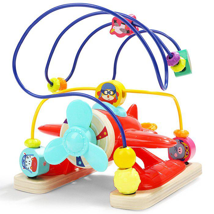 Affordable Topbright 120385 Multifunctional Round Bead Plane Toy for Kids