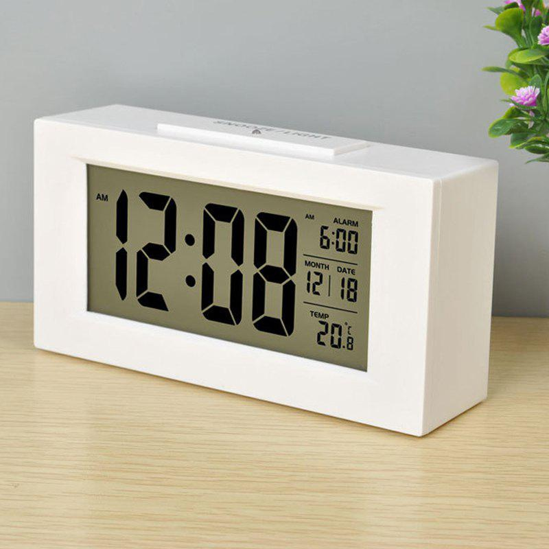 Fancy Large LCD Screen Digital Kickout Stand for Desk Display Temperature Date Snooze Alarm Clock