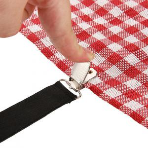 Gocomma Bed Sheet Fasteners 4pcs Adjustable Triangle Straps Quick Solution to Messy Bed -