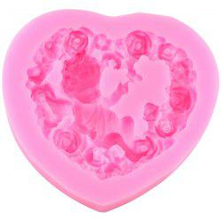 DIY Rose Heart Angel Baby Silicone Cake Mold -