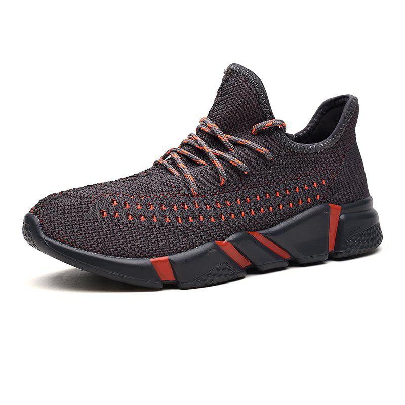 Trendy Men Breathable Lace-up Shoes with Medium Top