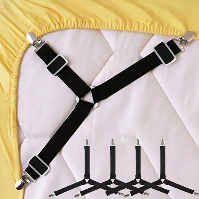 Affordable Gocomma Bed Sheet Fasteners 4pcs Adjustable Triangle Straps Quick Solution to Messy Bed