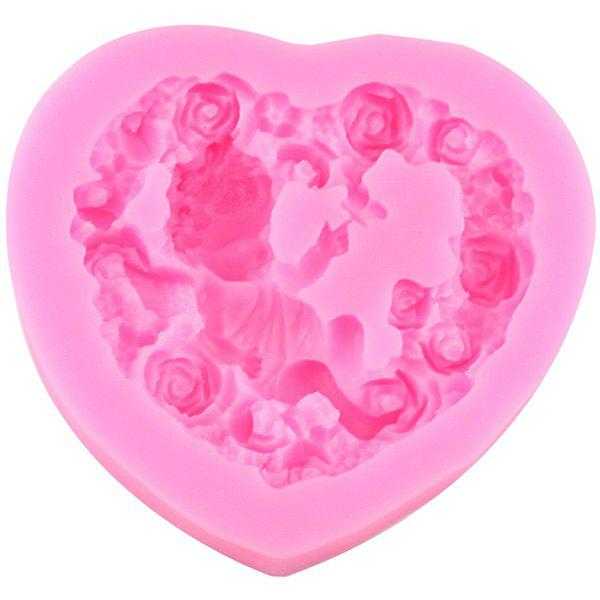 Outfit DIY Rose Heart Angel Baby Silicone Cake Mold