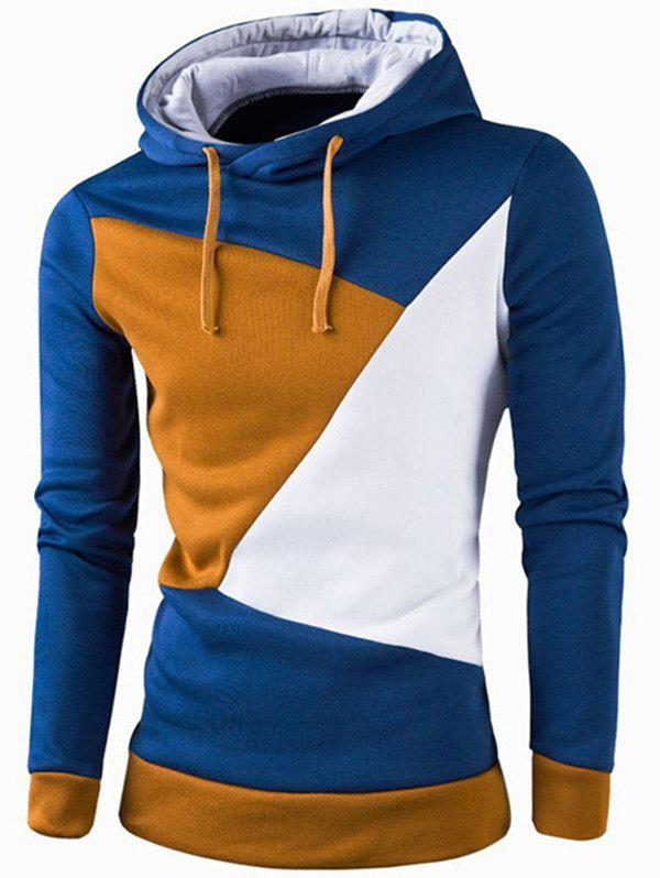 Buy IZZUMI Stylish Color Block Spliced Slim Fit Long Sleeve Hoodies For Men