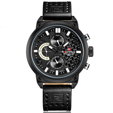 Latest Naviforce Luxury Leather Band Men Sports Wristwatch