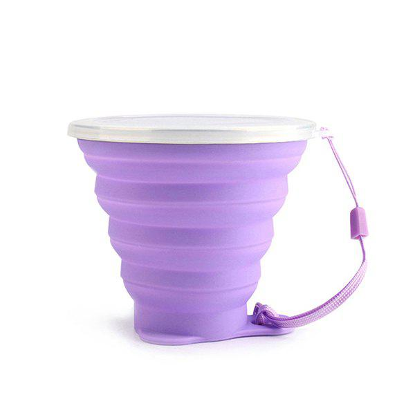 New 270ML Stylish Solid Color Silicone Foldable Cup