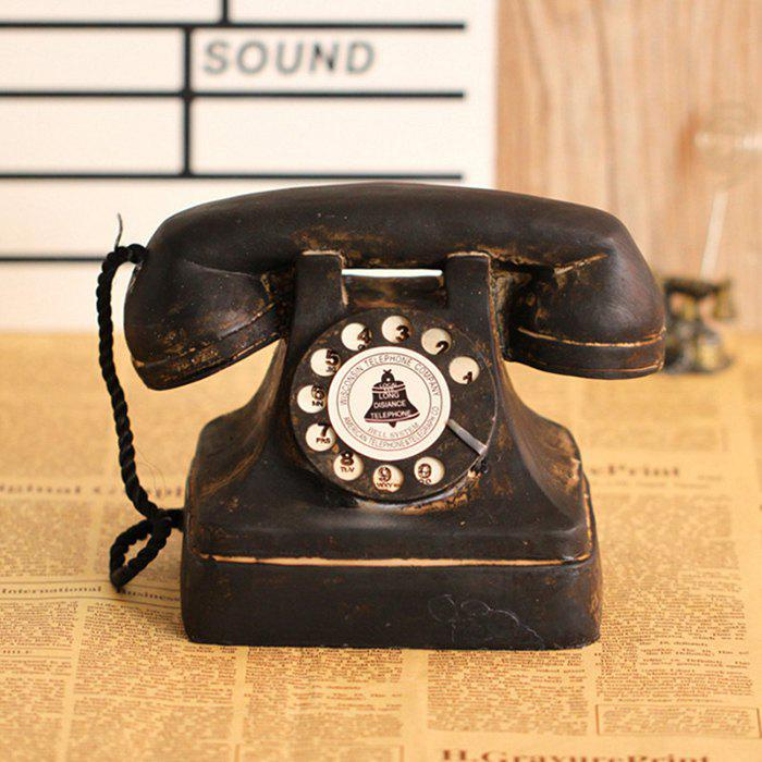 Chic Telephone Resin Table Decoration American Vintage Style