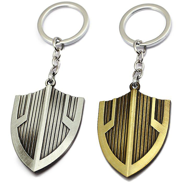 Outfits Creative Metal Shield Shape Key Chain