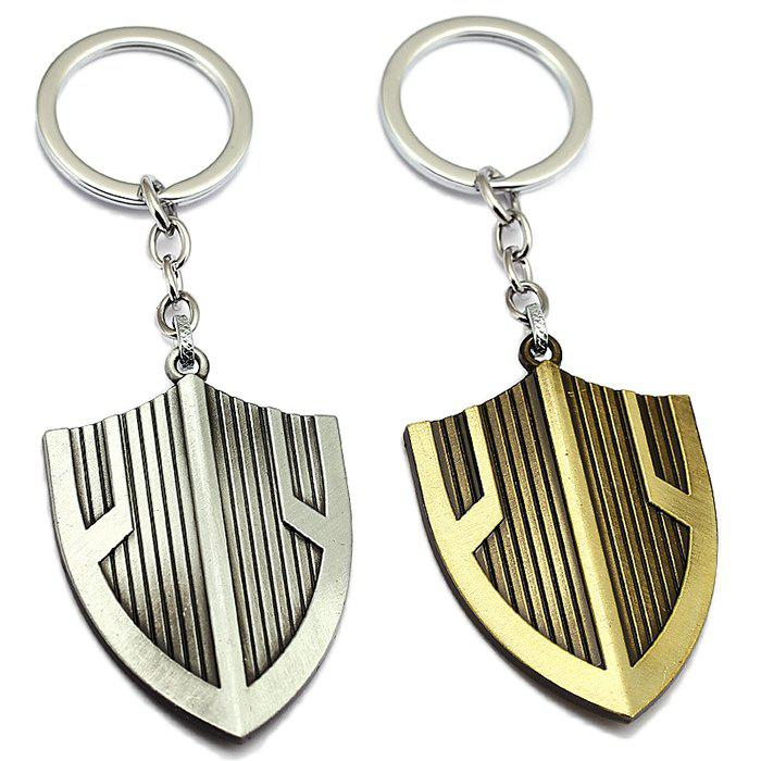 Trendy Creative Metal Shield Shape Key Chain