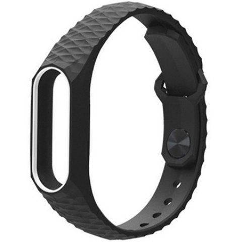 Soft TPU Replacement Wristband Watch Strap for Xiaomi Mi Band 2 Smart Bracelet - WHITE AND BLACK