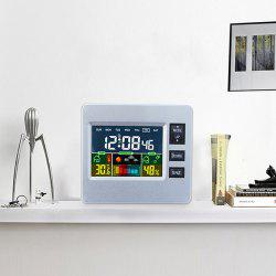 LCD Digital Temperature Humidity Weather Station Alarm Clock -