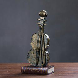 Creative Resin Retro Violin Table Decoration Special Art Craft -