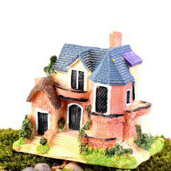Microlandschaft Mini Resin Villa Model Toy Table Decoration Kids Gift -