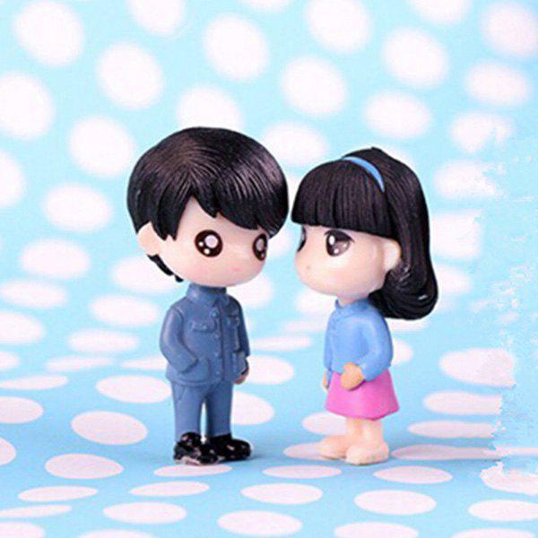 Outfit Beautiful Lovers Model with Classic Clothes for Desk Decoration 2pcs