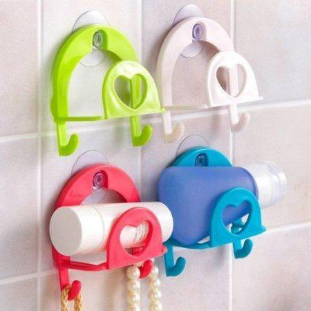 Discount Suction Dish Sponge Towel Rack Kitchen Accessory Home Storage Hook