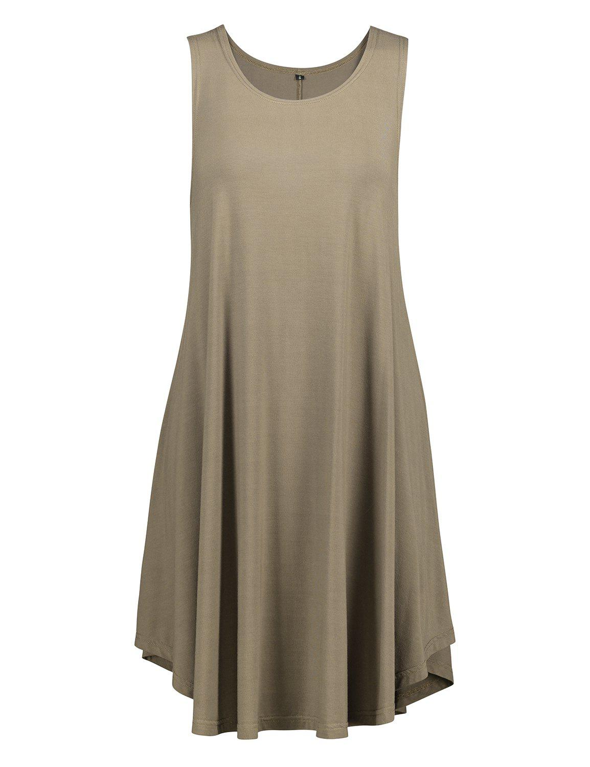 Chic ZAN.STYLE Sleeveless Swing Tunic Dress Tank Top