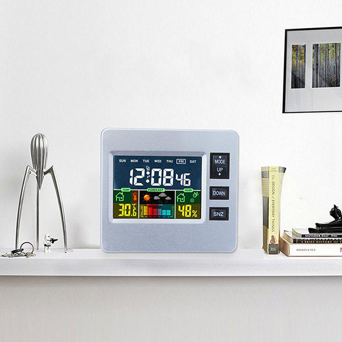 Hot LCD Digital Temperature Humidity Weather Station Alarm Clock