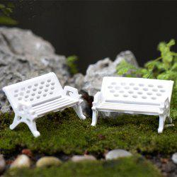 Microlandschaft Mini Park Bench Model Toy Decorative Ornament 4pcs -