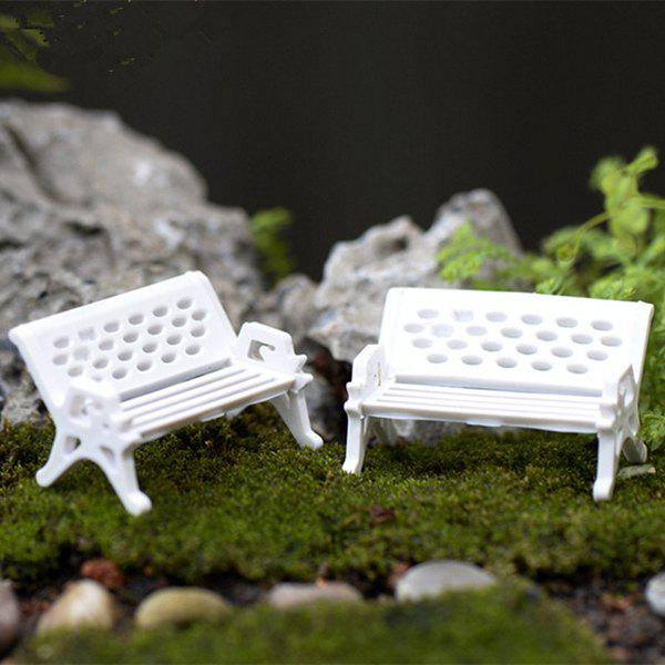 Chic Microlandschaft Mini Park Bench Model Toy Decorative Ornament 4pcs