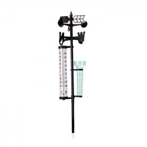Garden Farm Orchard Outdoor Measurement Set Thermometer + Rain Gauge + Wind Direction Meter -