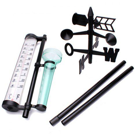 Buy Garden Farm Orchard Outdoor Measurement Set Thermometer + Rain Gauge + Wind Direction Meter