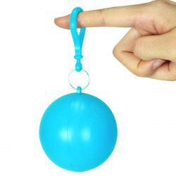 Stylish Disposable Foldable Raincoat Set Ball with Keychain -