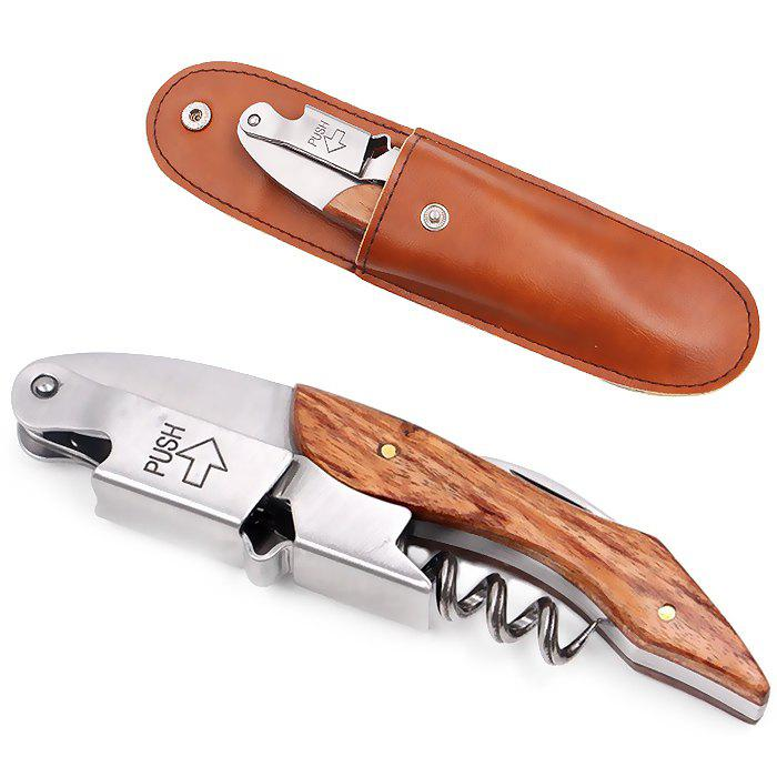 Unique Classic Multi-function Bottle Opener with Leather Case