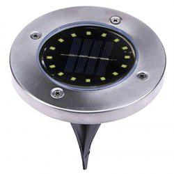 16-LED Solar Powered Ground Lamp Waterproof Outdoor Lights for Yard Driveway Lawn Pathway -