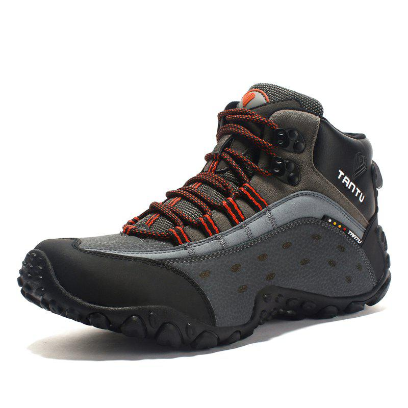 Unique TANTU Men Outdoor Leather Climbing Hiking Shoes