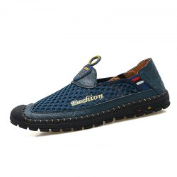 Trendy PU Breathable Slip-on Causal Shoes for Men -