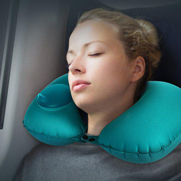 Fancy Multifunctional Casual Office Inflatable Pillow U-shaped Sleeping Tool
