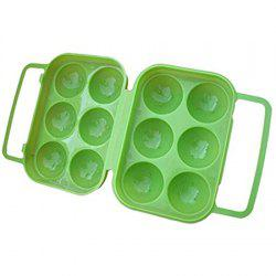 Outdoor Picnic Portable Plastic 6 Case Egg Box -