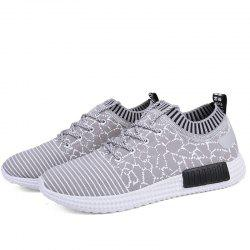 Men Comfort Outdoor Mesh Knitted Casual Shoes -
