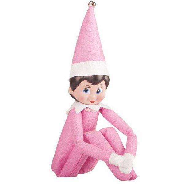Fancy Elf Doll Plush Toy Multi Colors Christmas Gift for Kids Home Shelf Decoration