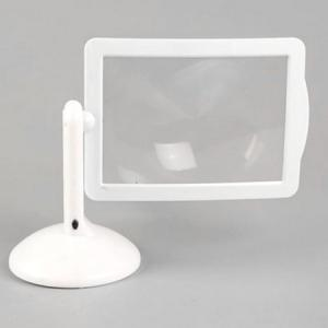 Rotating 3x Magnifier Brighter Viewer LED Magnifying Glass Mirror with Stand -