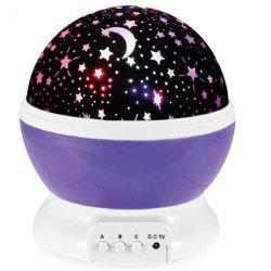 LED Auto Rotating Starry Projection Lamp Night Light -