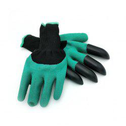 Garden Digging Protective Gloves with 8pcs ABS Claw -