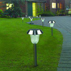 Solar Powered LED Ground Lamp Waterproof Outdoor Lights for Yard Driveway Lawn Pathway 2PCS -