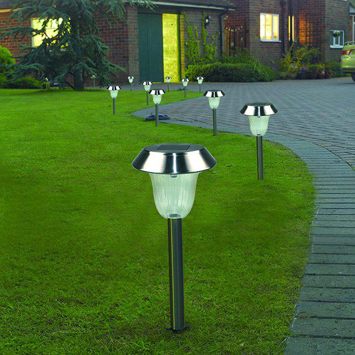 Affordable Solar Powered LED Ground Lamp Waterproof Outdoor Lights for Yard Driveway Lawn Pathway 2PCS