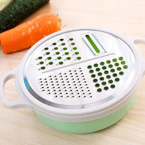 4-in-1 Vegetable Slicer Hand-held Grater with Bowl -