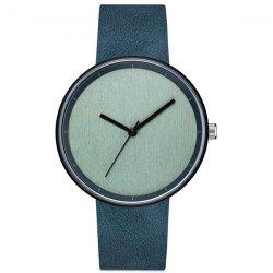 GAIETY Men's Casual Stripe Dial Leather Band Dress Watch G538 -