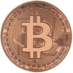 BALDR Gold Plated Coin Collectible BitCoin Art Collection Gift Physical -