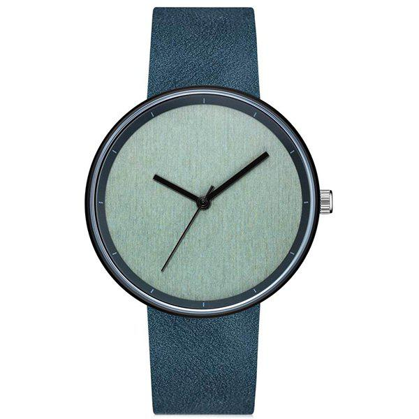 New GAIETY Men's Casual Stripe Dial Leather Band Dress Watch G538